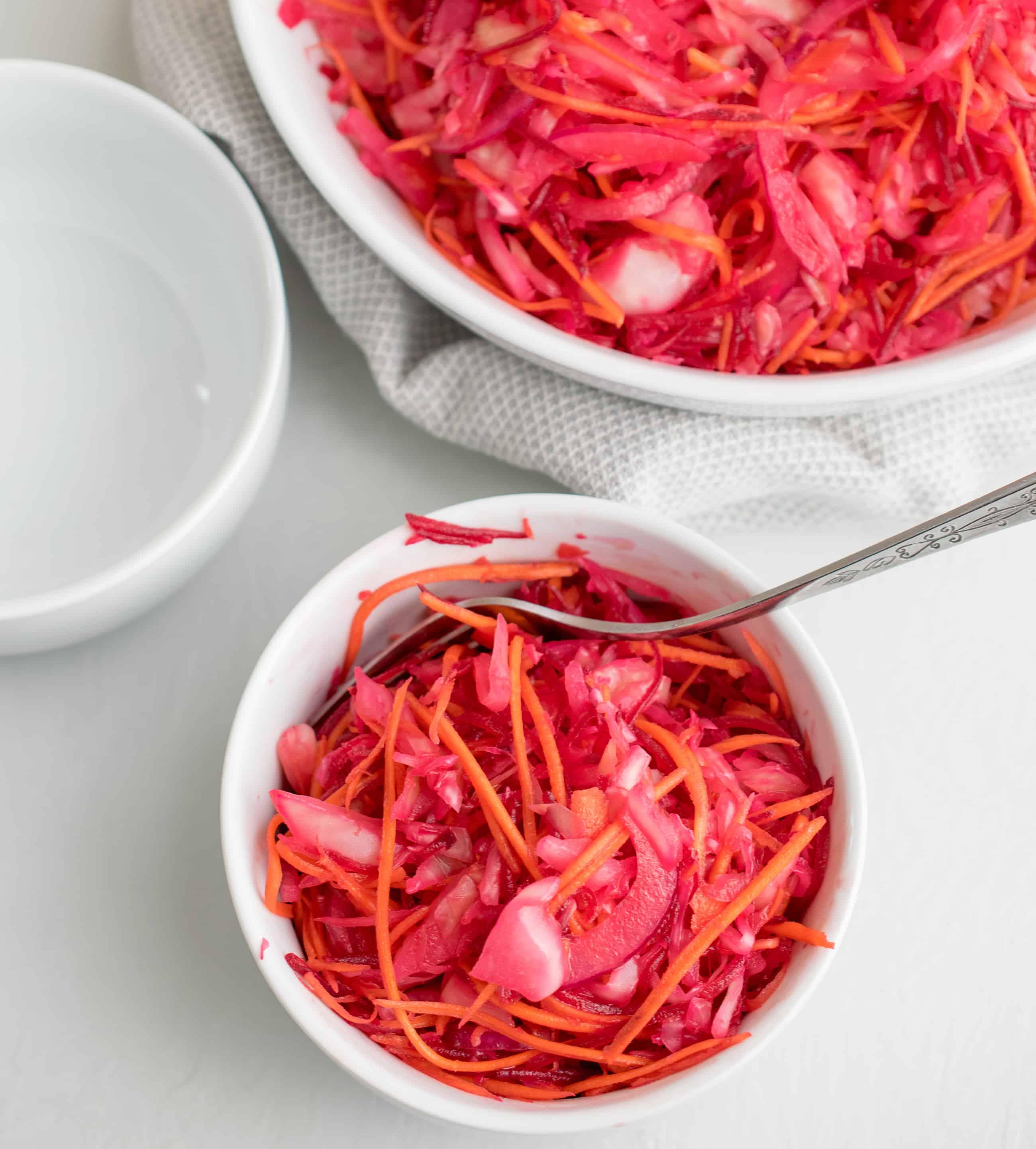 Raw Beet Sauerkraut Salad